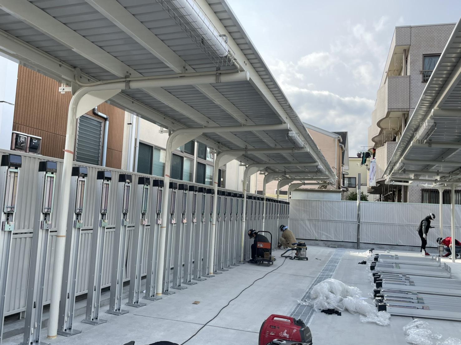 八重咲町公園第1駐輪場改築工事